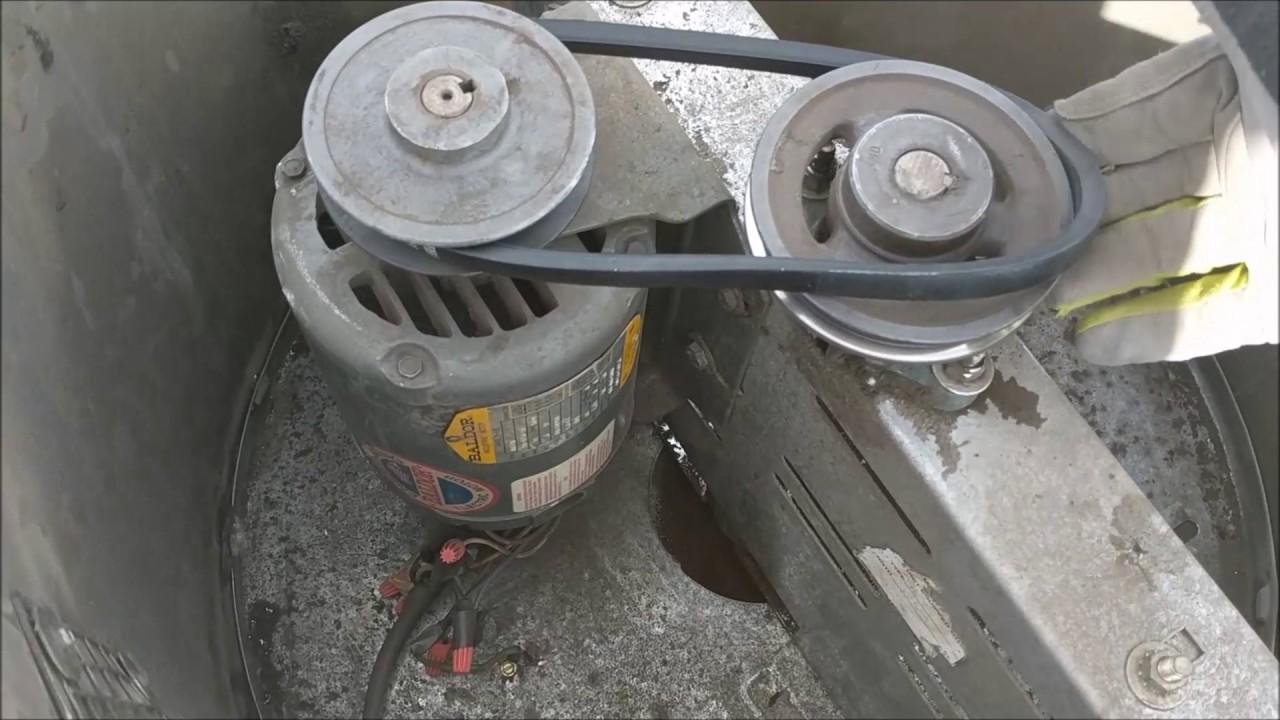 Roof Exhaust Fan Maintenance Youtube