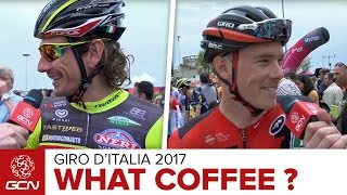 What Coffee Do Pro Cyclists Drink Before Racing? | GCN Asks The Pros At The 2017 Giro d'Italia