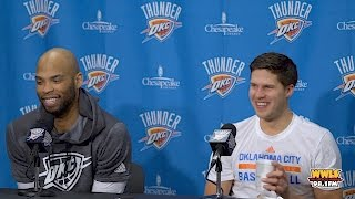 Taj Gibson & Doug McDermott Press Conference Before First Game with Thunder