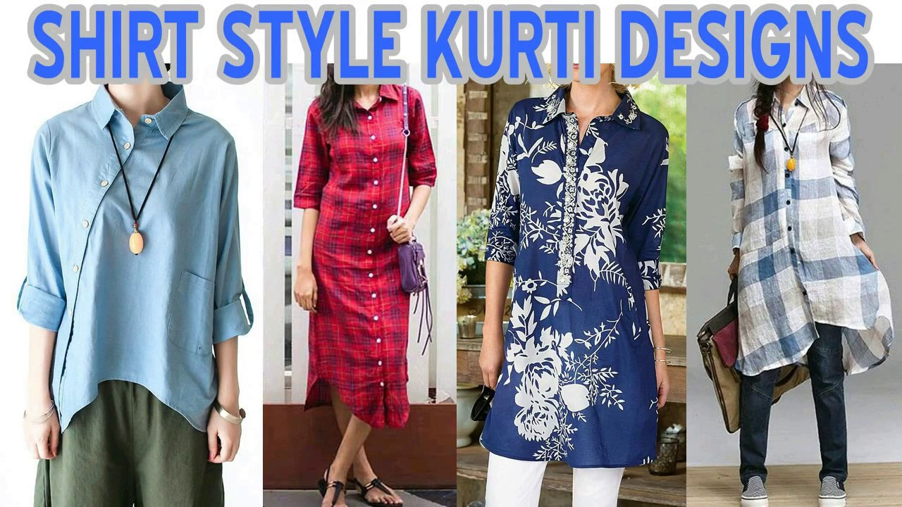 6a438c52 Top Beautiful Shirt Style Women Kurta / Kurti Designs - YouTube