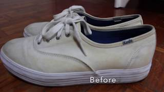 DIY TESTED: Removing Yellow Stains on White Shoes