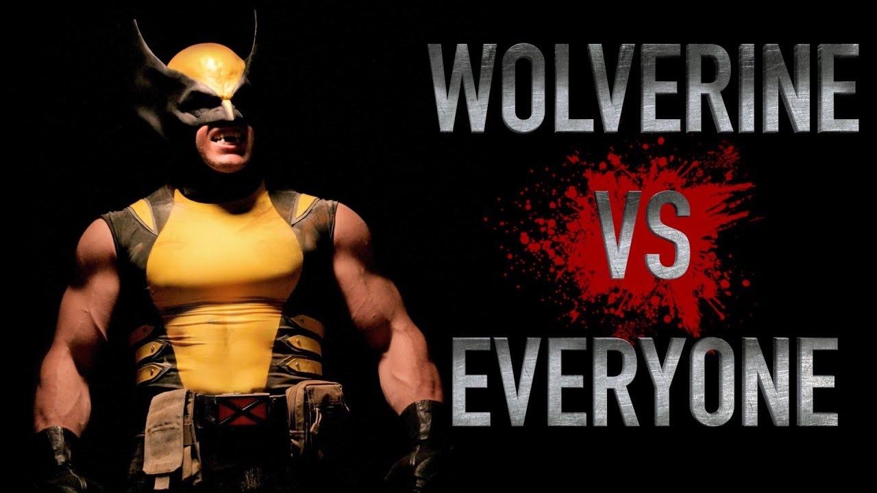 WOLVERINE vs EVERYONE - LIVE ACTION - Batman Wonder Woman Predator