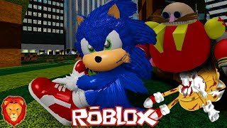 THE END OF SONIC'S PELICULA IN ROBLOX SPANISH SONIC PELICULA IN ROBLOX LEON PICARON