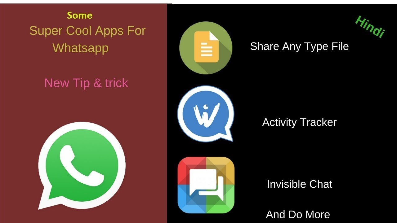 5 Super Cool & New Android Apps & Hidden Trick For WhatsApp (Hindi)Spy  Monitor Anyone