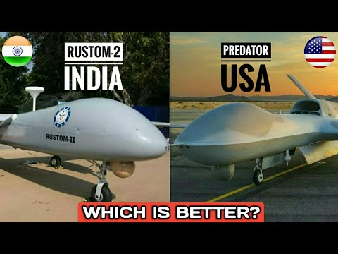 India's Rustom-2 Vs US Predator Drone - DRDO Rustom-2 Vs MQ-1 Predator | Which Is Better? (Hindi)