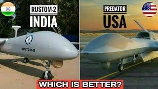 India's Rustom-2 Vs US Predator Drone - DRDO Rustom-2 Vs MQ-1 Predator   Which Is Better? (Hindi)