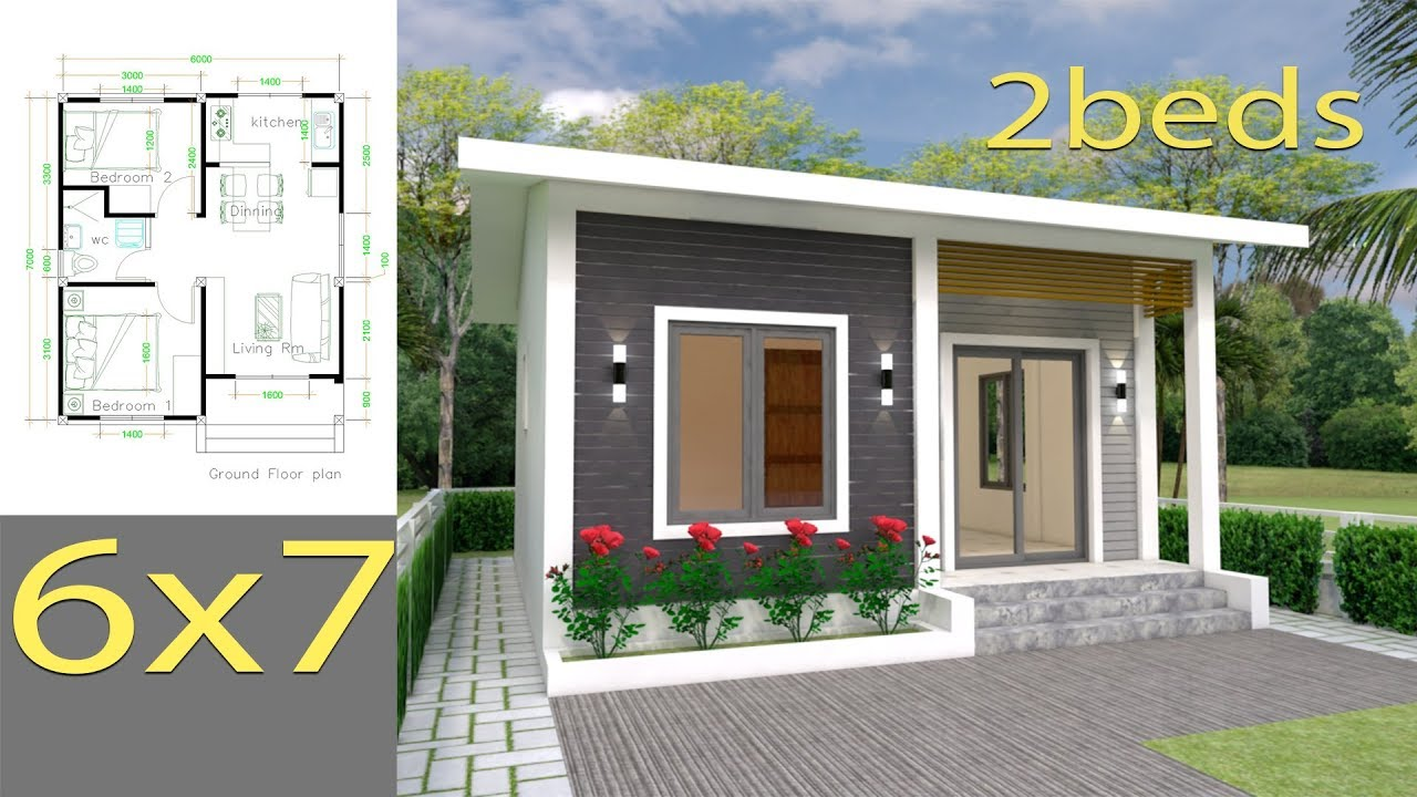 House Plans 6x7m With 2 Bedrooms Full Plans