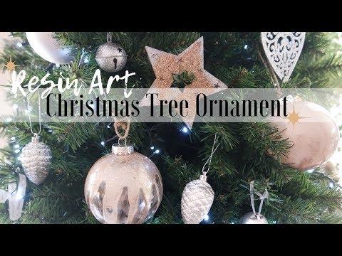 How to make Resin Art Christmas Ornaments