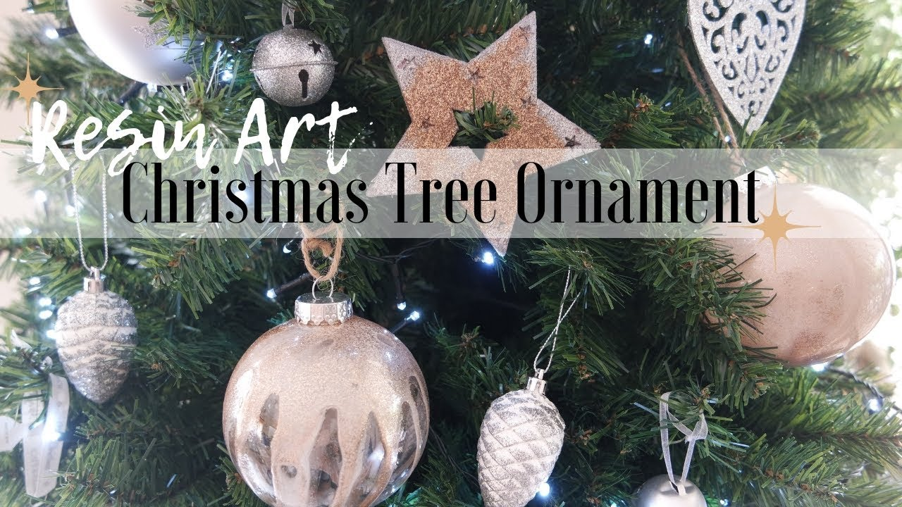 Resin Christmas Ornaments.How To Make Resin Art Christmas Ornaments