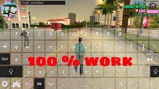 How to enter cheats in gta vice city  in any Android ,  mobile phone