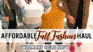 FALL FASHION 2019 | WALMART AND OLD NAVY TRY ON HAUL | JESSICA O'DONOHUE