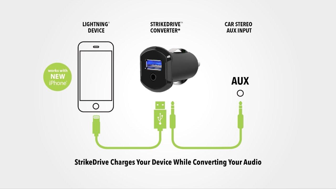 timeless design da233 d3bdc Scosche StrikeDrive Converter - iPhone 7 Car Charger
