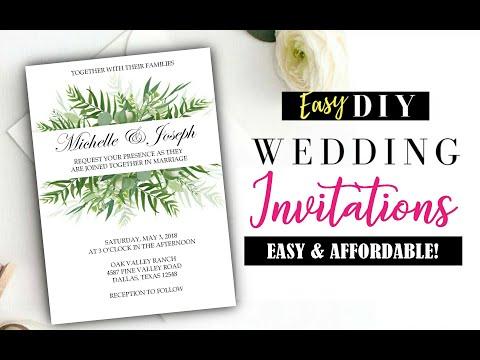 DIY Wedding Invitations - Easy & Affordable