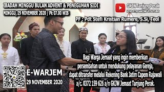 LIVE IBADAH MINGGU BULAN ADVENT & PENEGUHAN SIDI | MINGGU, 29 NOVEMBER 2020 | GKJW JEMAAT Tg. PERAK