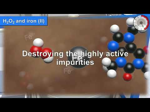 How to destroy highly active impurities from wastewater using hydrogen peroxide and iron II