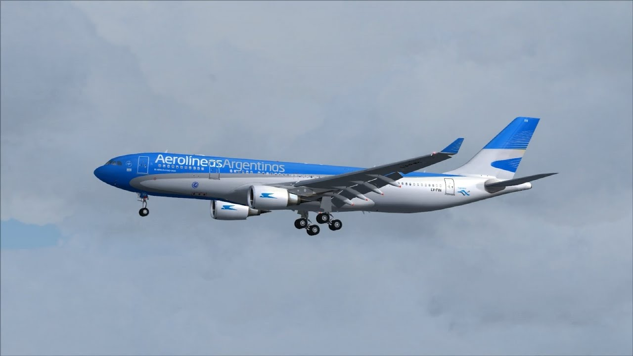 Aerolineas Argentinas A330-200 [LV-FVH] Landing @ (MAD) Madrid