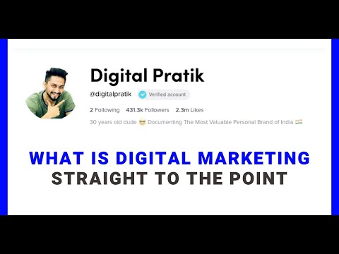 Video 1: What is Digital Marketing? Straight to the point...!!!