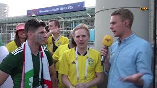 Här firar Mexiko och Sveriges fans i Ryssland