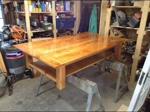 Woodworking : Cherry Coffee Table w/ Shelf // How-To Part 2