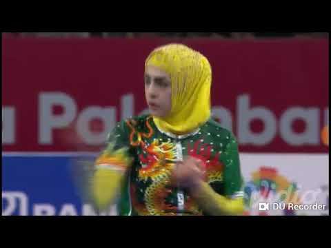 Waooo Kreen..Atlet Wushu Putri Dari Timur Tengah Di Sea Game  2018