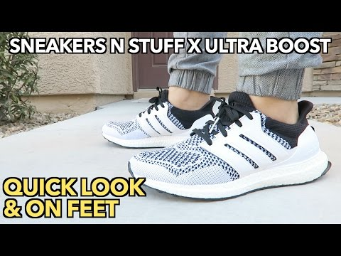 "ULTRA BOOST SNEAKERS N STUFF ""TEE TIME"" 