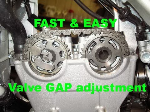 Easy Valve Adjustment Yamaha YZ250F - The fastest way!