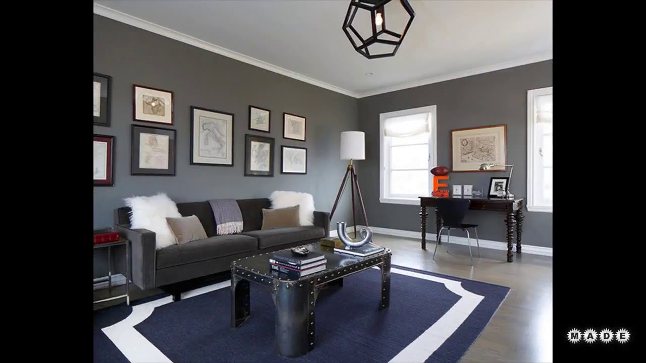 Grey And Navy Living Room Youtube