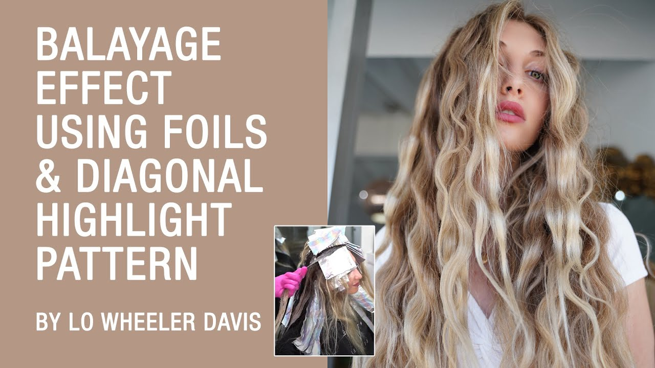 Balayage Effect Using Foils & Diagonal Highlight Pattern by Lo Wheeler Davis | Kenra Color