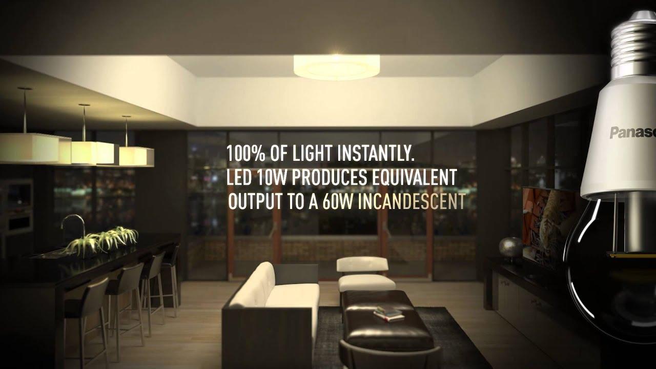 panasonic led light bulb bring beautiful light home youtube