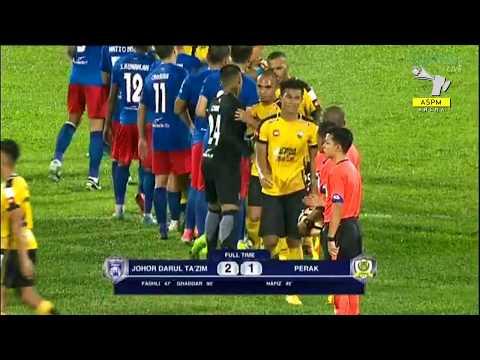 Liga Super Malaysia 2017 (Matchday 18): JDT (2-1) Perak Goals Highlights [26 July 2017]