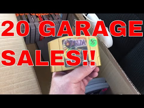 Garage Sales!  Retro games, electronics, signs, jewelry and more