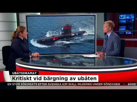 Stor risk att svenska Kim Wall är död  - Nyheterna (TV4)