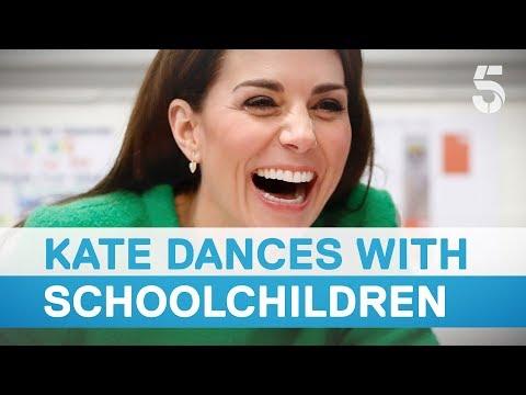 Duchess of Cambridge dances with schoolchildren | 5 News