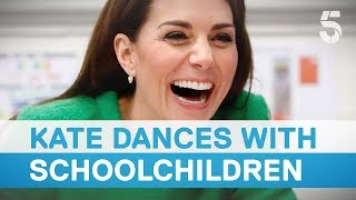 Duchess of Cambridge dances with schoolchildren | 5 News