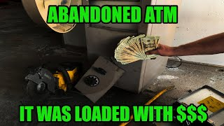 Breaking into Abandoned Bank ATM Machine LOADED with Money!!!