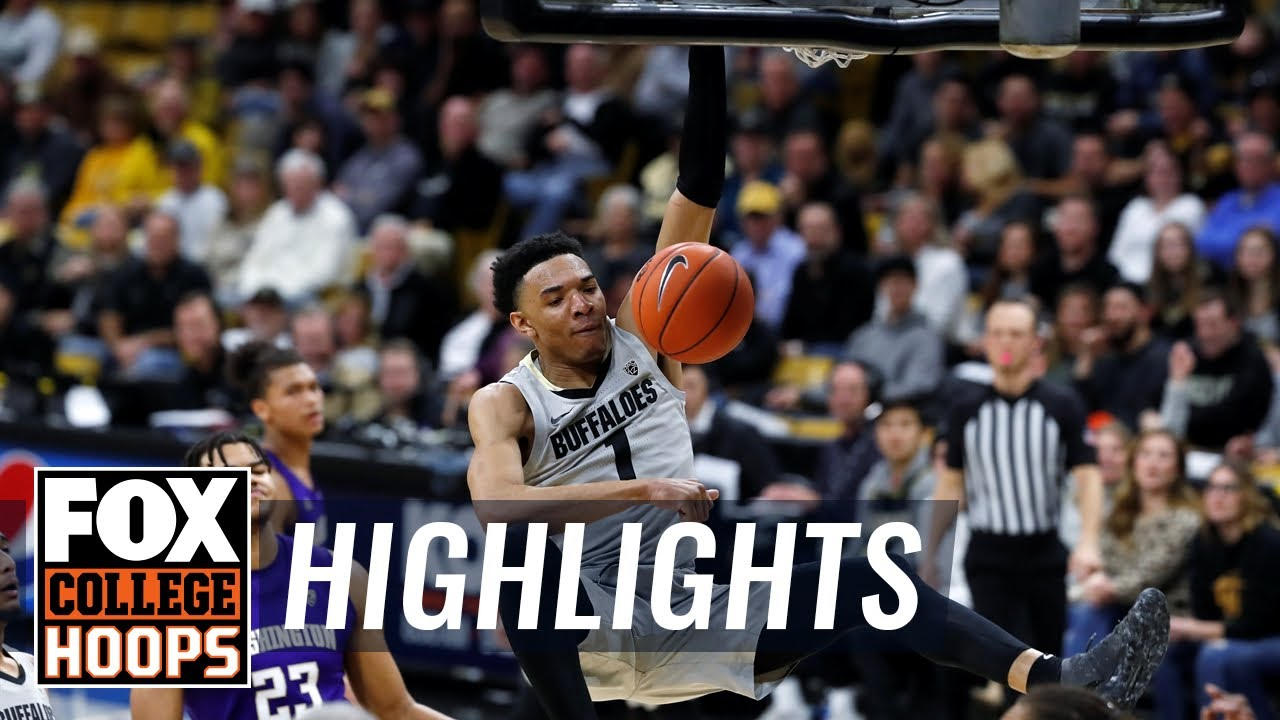 Tyler Bey leads No. 23 Colorado past Washington, 76-62  HIGHLIGHTS