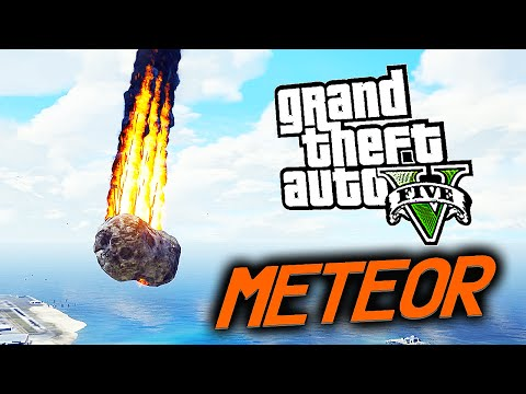 GTA 5 Meteor Mod W/ Angry Planes Mod! (Grand Theft Auto 5 Meteor Mod Gameplay)