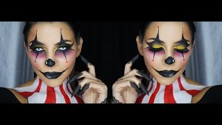 Clown Face Makeup Tutorial by Tina Kosnik