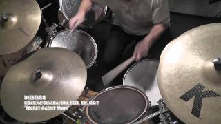 "DRUM COVER DIESEL88 T.V. Rock w/Rhumba ""Secret Agent Man"""