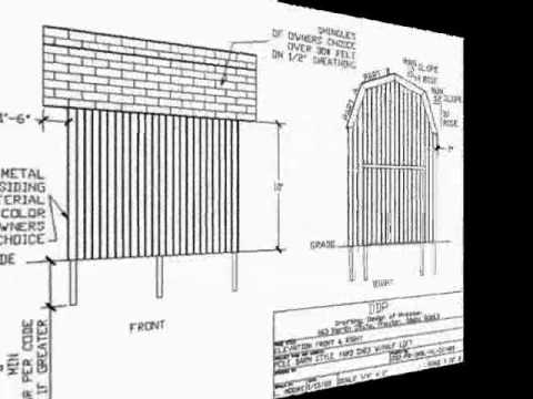 Pdf barn plans pole barn style shed youtube for Pole barn plans pdf