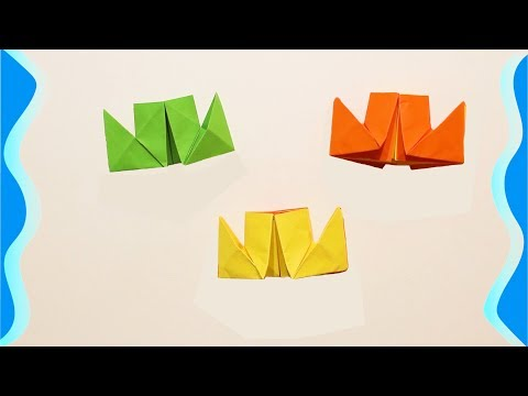 DIY. How to make a paper ship. Origami for kids.