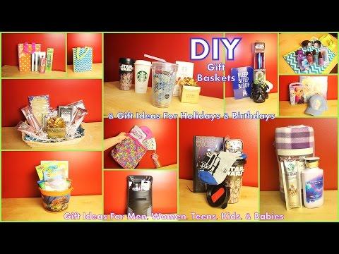 DIY Gift Baskets & Gift Ideas - How To Assemble - For Men Women Kids Teens & Babies #diyczokamas