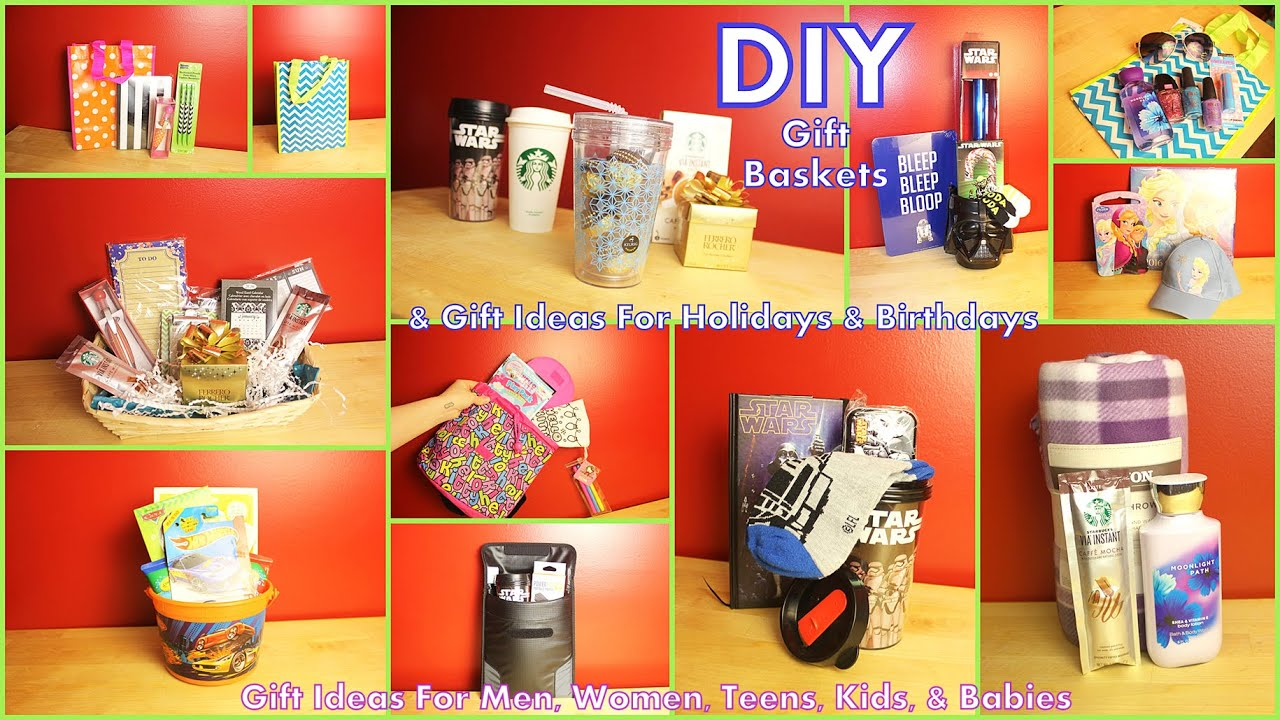 DIY Gift Baskets & Gift Ideas - How To Assemble - For Men Women ...