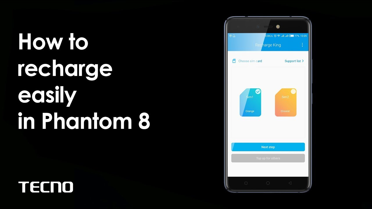 How to recharge your SIM card easily on TECNO Phantom 8?