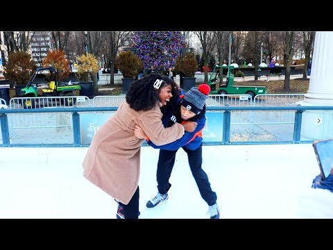 Our First Time EVER Ice Skating...This Didn't Go As Expected 😳👀