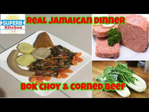 Best Jamaican style Pak choy and corned beef #bokchorandcornedbeef