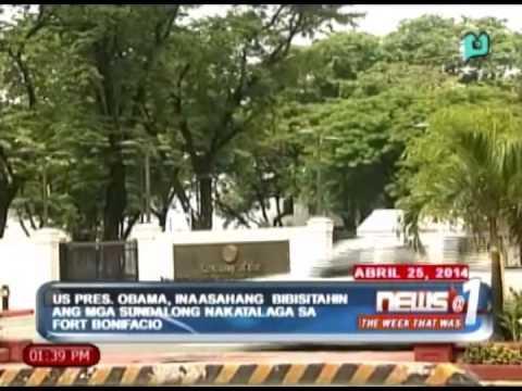 US Pres. Obama, inaasahang bibisitahin ang mga sundalong nakatalaga sa Fort Bonifacio [04|26|14]
