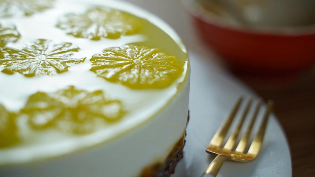 이 레몬 치즈케이크는 구운걸까요? 굽지 않은 걸까요?   Lemon Jelly Cheesecake / Chocolat Pain De Gênes