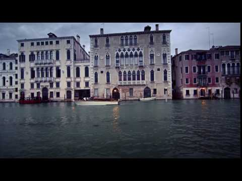 Gothic Venetian buildings on the Grand Canal.