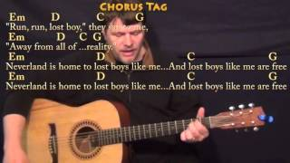 lost boy ruth b guitar cover lesson with chords lyrics